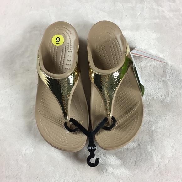 abc6751f90e0 Cross Sloane Embellished gold metallic Sandals